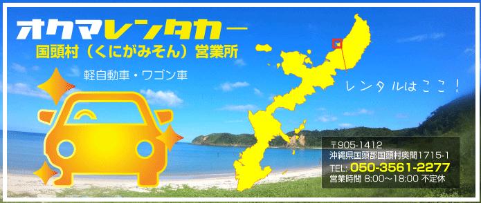 オクマレンタカー【沖縄県国頭村奥間】